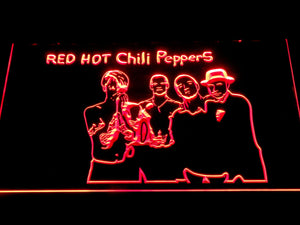 Red Hot Chili Peppers Silhouette LED Neon Sign c510 - Red