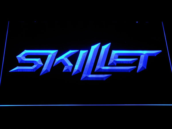 Skillet American Christian Band LED Neon Sign c514 - Blue