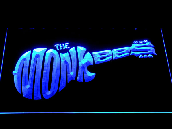 The Monkees Rock & Pop Band LED Neon Sign c517 - Blue