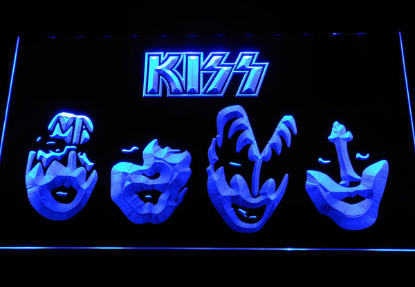 Kiss Rock Band LED Neon Sign c526 - Blue
