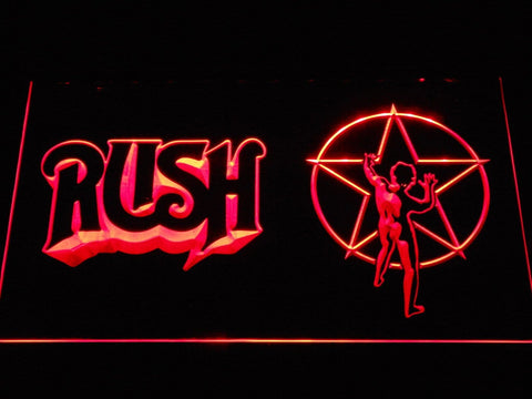 Rush Rock Band LED Neon Sign c530 - Red