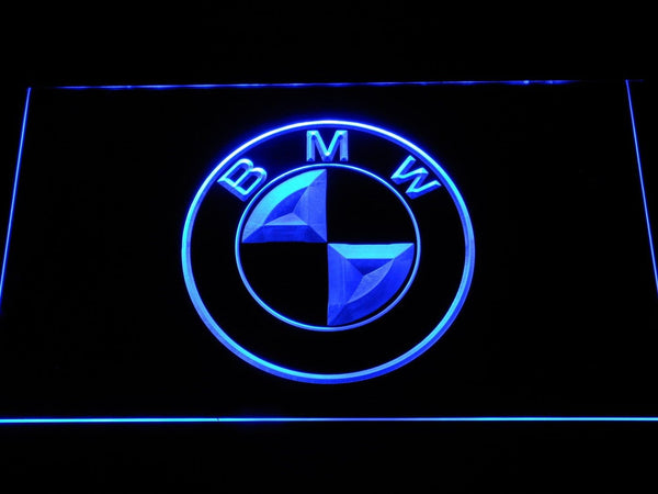 BMW Car LED Neon Sign d003 - Blue