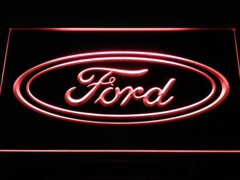 Ford Car LED Neon Sign d007 - Red