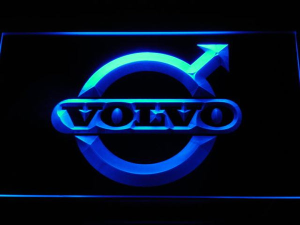Volvo Car LED Neon Sign d008 - Blue