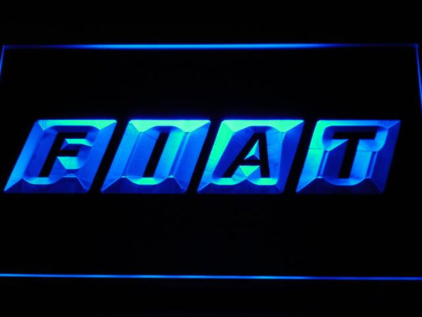 Fiat Automobiles LED Neon Sign d010 - Blue