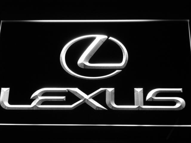 Lexus Automobile LED Neon Sign d011 - White