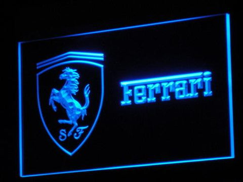 Ferrari Car LED Neon Sign d017 - Blue