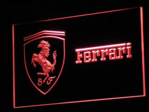 Ferrari Car LED Neon Sign d017 - Red