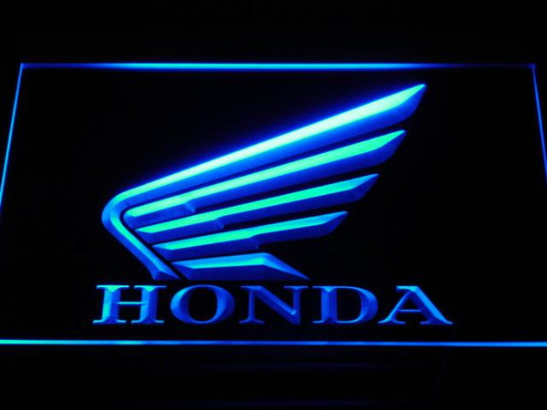 Honda Motorcycles LED Neon Sign d023 - Blue