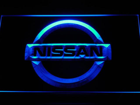 Nissan Car LED Neon Sign d026 - Blue