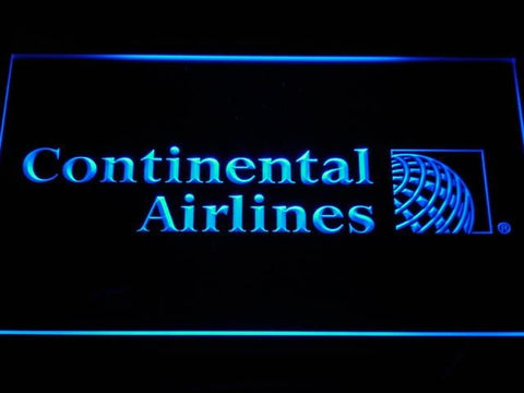 Continental Airlines Flight LED Neon Sign d027 - Blue