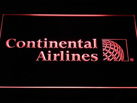 Continental Airlines Flight LED Neon Sign d027 - Red