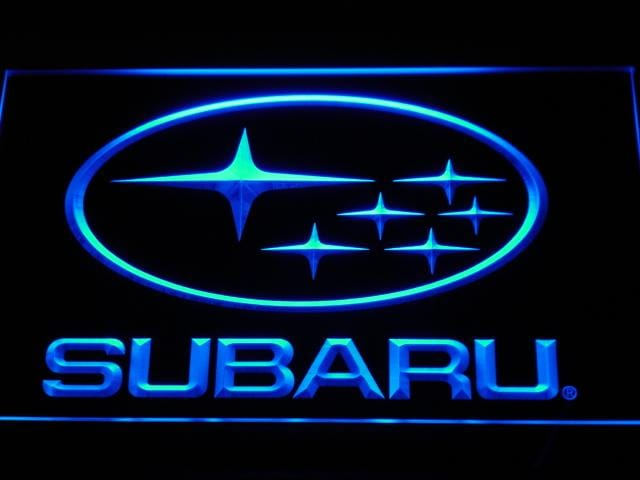 Subaru Car LED Neon Sign d031 - Blue