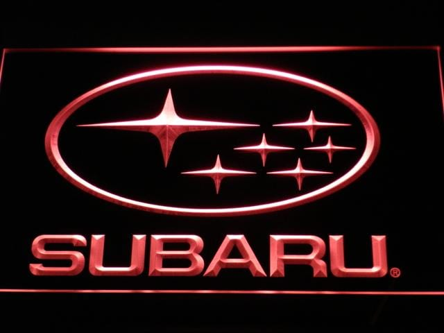 Subaru Car LED Neon Sign d031 - Red