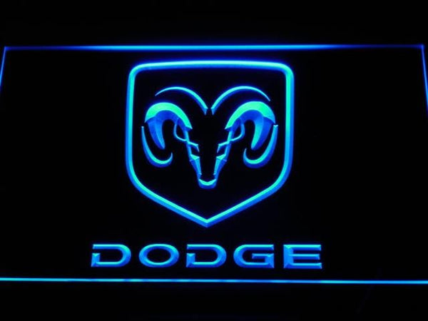 Dodge Car LED Neon Sign d037 - Blue