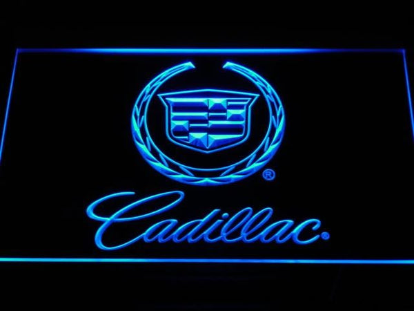 Cadillac Car LED Neon Sign d041 - Blue