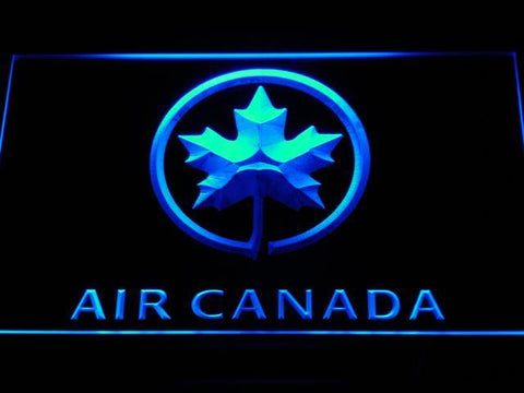 Air Canada Airlines Flight LED Neon Sign d052 - Blue