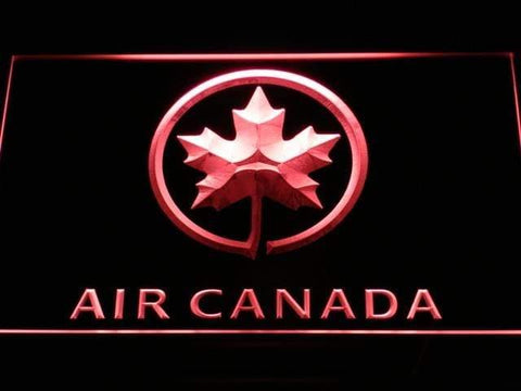 Air Canada Airlines Flight LED Neon Sign d052 - Red