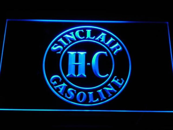 Sinclair Gasoline LED Neon Sign d118 - Blue