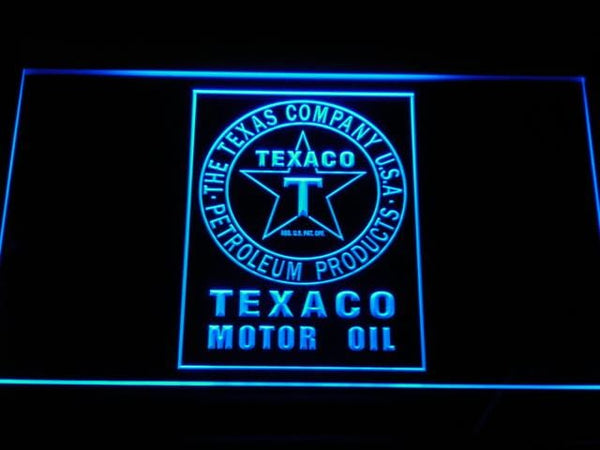 Texaco Motor Oil LED Neon Sign d124 - Blue