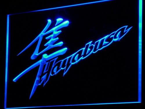 Suzuki Hayabusa Motorcycles LED Neon Sign d132 - Blue