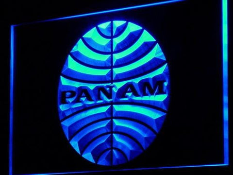 Pan American Airways PAN AM LED Neon Sign d140 - Blue