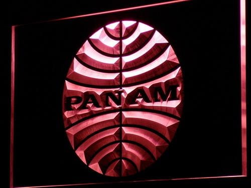 Pan American Airways PAN AM LED Neon Sign d140 - Red