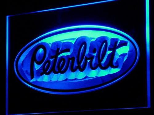 Peterbilt Trucks LED Neon Sign d141 - Blue