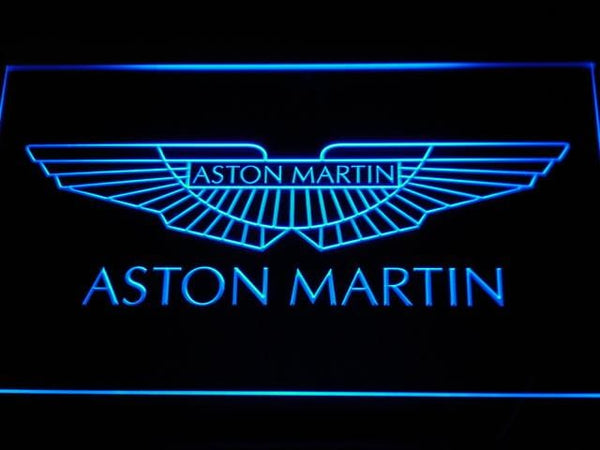 Aston Martin Sport Car LED Neon Sign d147 - Blue