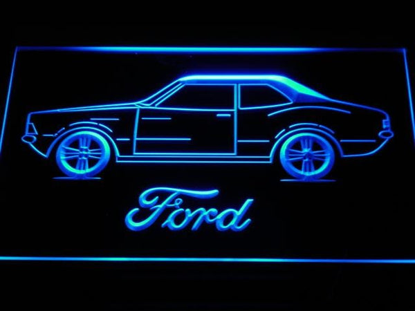Ford Classic LED Neon Sign d149 - Blue