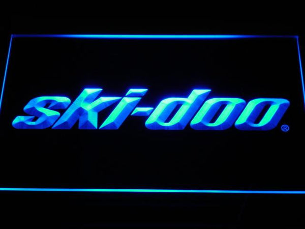 Skidoo  Snowmobiles LED Neon Sign d155 - Blue