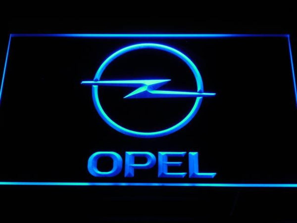 Opel Vehicles LED Neon Sign d156 - Blue