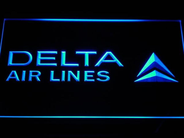 Delta Airlines DAL LED Neon Sign d158 - Blue