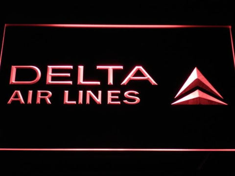 Delta Airlines DAL LED Neon Sign d158 - Red