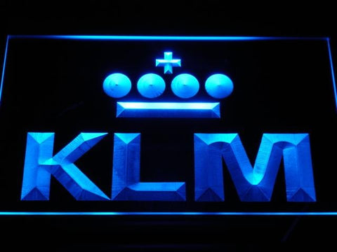 Klm Royal Dutch Airlines LED Neon Sign d170 - Blue