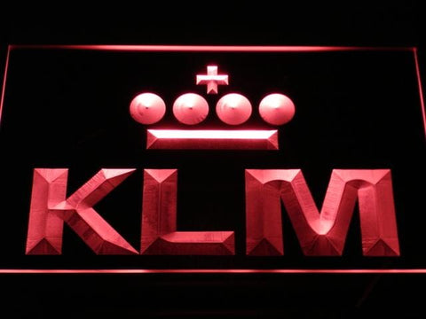 Klm Royal Dutch Airlines LED Neon Sign d170 - Red