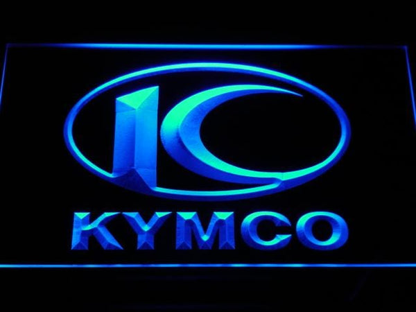 Kymco Motorcycle LED Neon Sign d171 - Blue