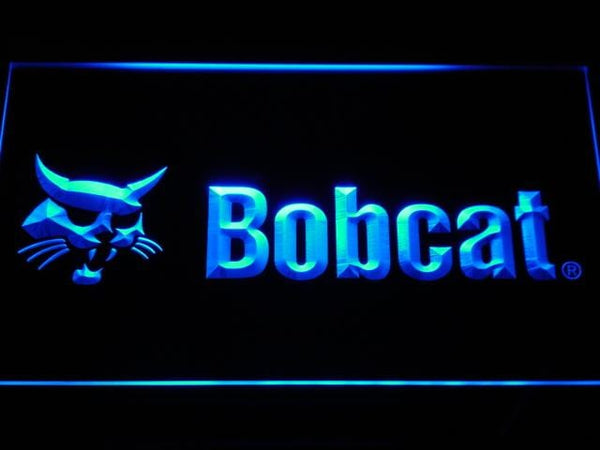 Bobcat Service Machinery LED Neon Sign d175 - Blue