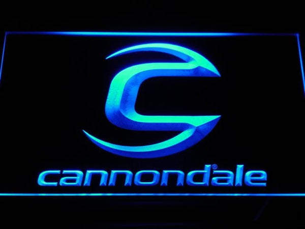 Cannondale Bicycles LED Neon Sign d176 - Blue
