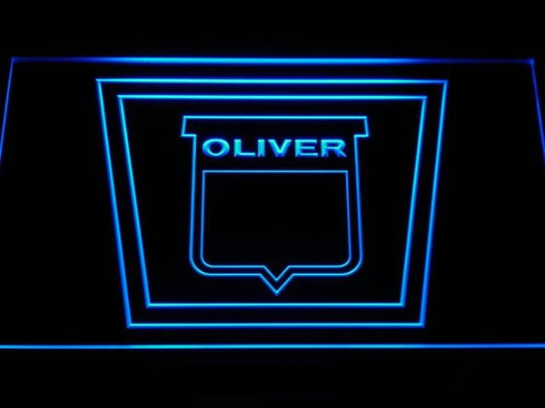 Oliver Tractor LED Neon Sign d189 - Blue
