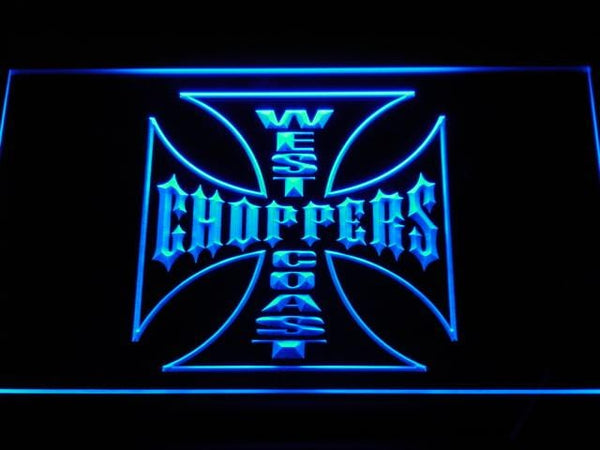 West Coast Choppers Motorcycles LED Neon Sign d202 - Blue