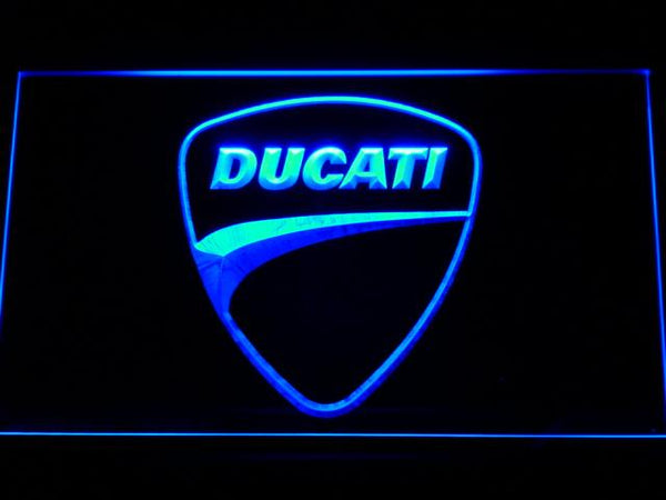 Ducati Motorcycles LED Neon Sign d205 - Blue