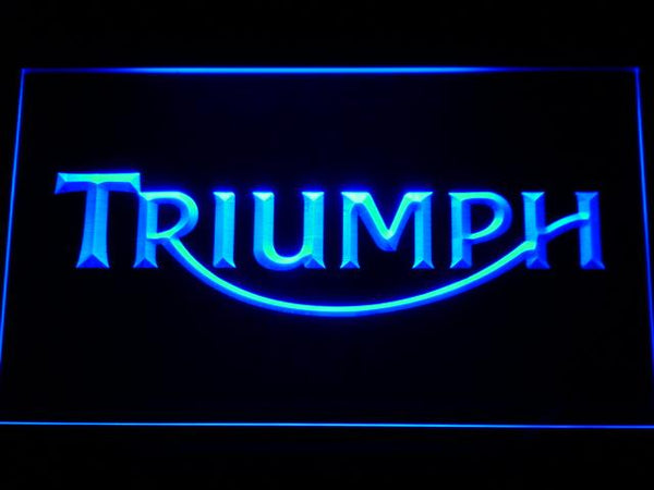 Triumph Motorcycles LED Neon Sign d207 - Blue