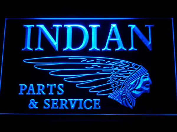 Indian Parts And Service LED Neon Sign d210 - Blue