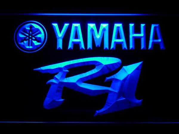 Yamaha R1 LED Neon Sign d216 - Blue