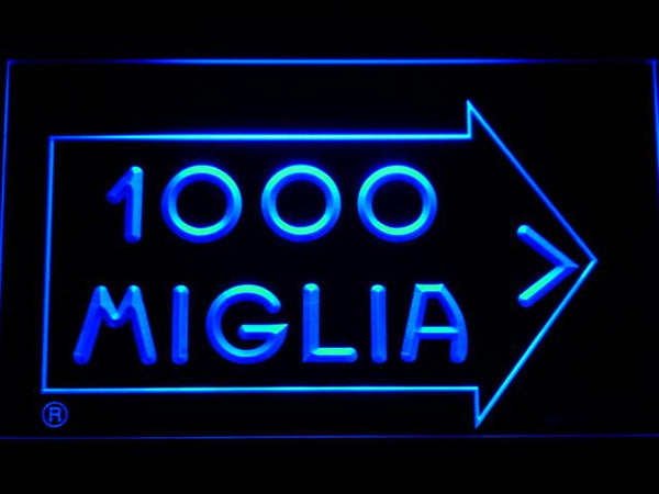 Mille Miglia Racing LED Neon Sign d219 - Blue