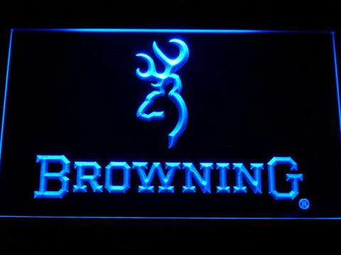 Browning Firearms LED Neon Sign d228 - Blue