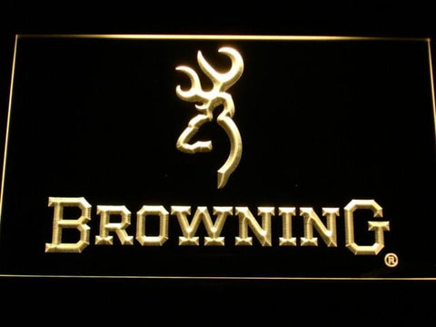 Browning Firearms LED Neon Sign d228 - Yellow