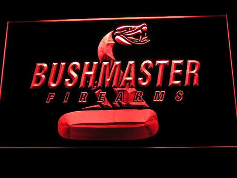 Bushmaster Firearms Hunting Logo LED Neon Sign d230 - Red