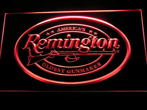 Remington Firearms Hunting Gun LED Neon Sign d233 - Red